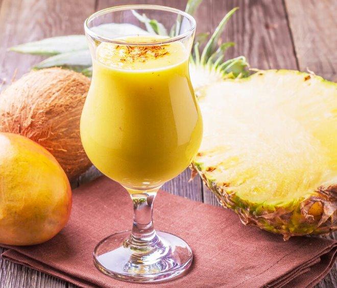 Sinh tố rau quả là một trong những món ăn bổ mắt